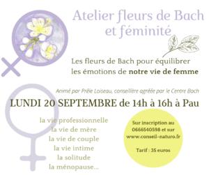 atelier fleurs de Bach et féminité